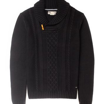 !Solid Toggle Knit Jumper