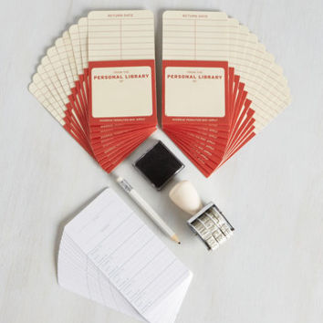 Dorm Decor, Scholastic Check Me Out Library Kit by ModCloth