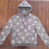 Louis Vuitton Fashion Casual Long Sleeve Print Hoodie Hooded Sweatshirt G-@-LZP