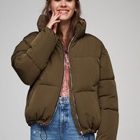 Quilted jacket with funnel collar - Best sellers ❤ - Clothing - Woman - PULL&BEAR United Kingdom