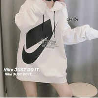 Nike Men's and Women's Box Texture Hooded Terry Sweatshirt
