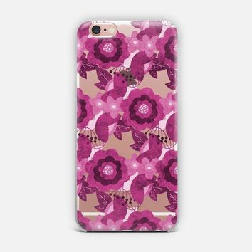 Tropical Flowers - Pink iPhone Case