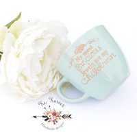Inspirational engraved mug, Mint engraved my most precious jewels are my children mug, Engraved mug, Mint mug, Mother's day mug, Custom mug