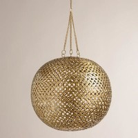 Brass Disc Hanging Pendant Lamp - World Market