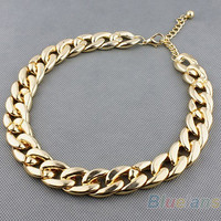 min. order 1pc Women Europe and the United States all-match thick Choker 00MY