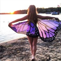 Butterfly Wings Beach Shawl