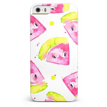 Bright Highlighter WaterColor-Melins iPhone 5/5s or SE INK-Fuzed Case