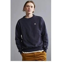 Champion The style of the round collar is 100% cotton street fashion Navy blue