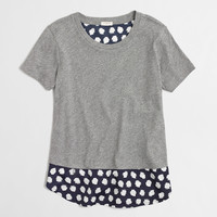 Factory printed woven-back swing tee : Knits & Tees | J.Crew Factory