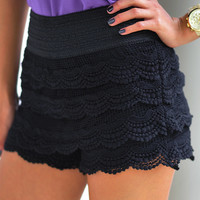 It's So Lacy Shorts: Midnight Black | Hope's
