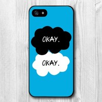 TOPXSW Case For iPhone 5 5s The Fault In Our Stars Okay O.K. Protective Hard Cover Case (Free Shipping)+ Screen Protector
