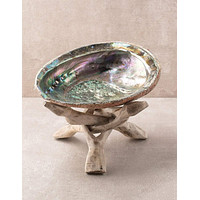 Incense and Smudge Tripod Burner Stand - Natural Wood - 6 inch