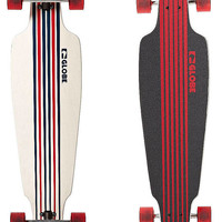 GLOBE PROWLER LONGBOARD SKATEBOARD - WHITE BLACK RED