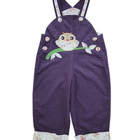 Powell Craft Purple Owl Corduroy Overalls - Infant, Toddler & Girls | zulily