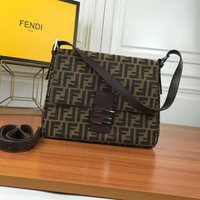 Ready Stock Fendi Zucca Ff Monogram Canvas Leather Shoulder Bag 8bt215 #532