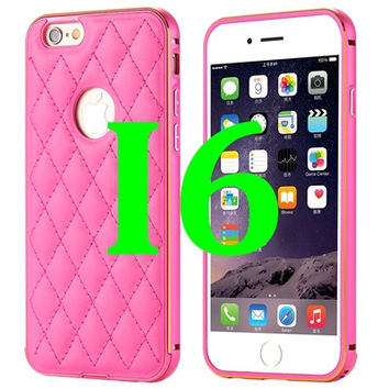 Fashion Frame Leather Case For iPhone 6 Plus 5.5 / For iPhone 6 4.7 inch