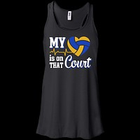 My Heart Is On That Court Volleyball T Shirt