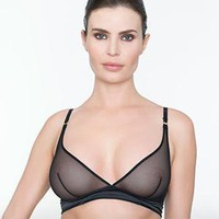 Sexy Sheer Wire-Free Triangle Bra Addiction Glamour