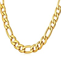 Men's Steel Figaro Chains