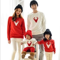 Winter Christmas T-shirt Family Look Clothes-Christmas Sweater