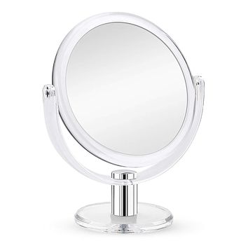 Fabuday Magnifying Makeup Mirror Double Sided, 1X 10X Magnification Mirror, Table Top Vanity Mirror, Transparent