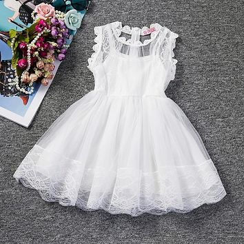 Baby Girl Floral Lace Princess Tutu Dress Wedding Christening Gown Dress Girls Clothes For Kids Party Wear Meninas Vestidos