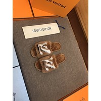 LV Louis Vuitton  Popular Summer Women's Flats Men Slipper Sandals Shoes12
