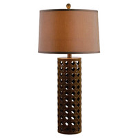 """Wildon Home ® Austen 30"""" H Table Lamp with Drum Shade"""