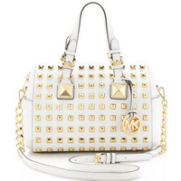 MICHAEL Michael Kors Medium Grayson Studded Satchel - Michael Kors