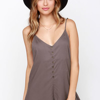 RVCA Escapade Brown Romper