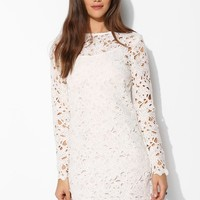 Keepsake Reach For The Sun Long-Sleeve Lace Shift Dress - Urban Outfitters