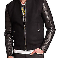 Versace Collection - Mixed Media Bomber Jacket - Saks Fifth Avenue Mobile