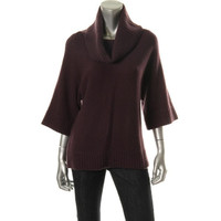 Lord & Taylor Womens Wool 3/4 Sleeves Pullover Sweater