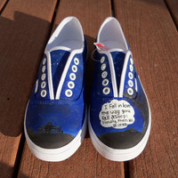 The Fault In Our Stars Custom Painted Vans Lace-up Shoes