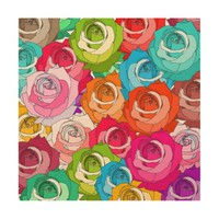 Roses Parade - Wood Canvas Wood Wall Art