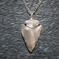 Wire Wrapped Arrowhead Pendant Necklace