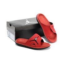 Nike Air Jordan Red Casual Sandals Slipper Shoes Size US 7-13-1