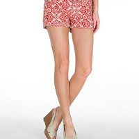 Miss Me Printed Stretch Short