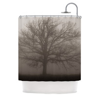 "Angie Turner ""Lonely Tree"" Dark Fog Shower Curtain"