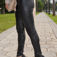 Barely There Leather Leggings: Black | Hope's