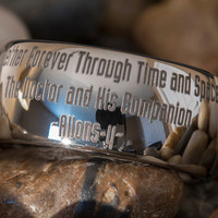 Tungsten Ring 10mm Dome Doctor Who Tardis Design