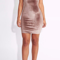 Audriana Velvet Bodycon Dress