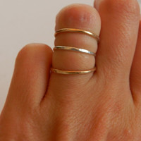 Sterling Silver or 14 karat gold filled Stacking Ring Midi ring or regular ring hand forged ring pounded ring hammered