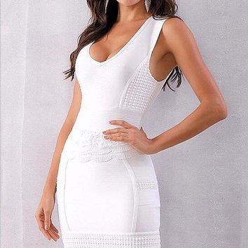 Lisette Lace Bandage Dress