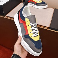Gucci Men Fashion Boots fashionable Casual leather Breathable Sneakers Running Shoes Sneakers