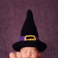Baby Infant Witch Newborn wizard Handmade Crochet Knit Cap Black Hat Costume Photograph Prop outfits Baby Caps Hats 0-12months = 1958100292