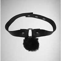 Puff Ball Ring Collar Necklace - Spencer's