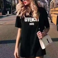 Givenchy Trending Women Print Loose Short Sleeve T-Shirt Pullover Top I