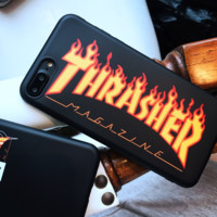 Thrasher silicone case for iphone 6/7/8/6plus/7plus/8plus/X