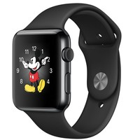Apple Watch - 42mm Space Black Stainless Steel Case with Black Sport Band
